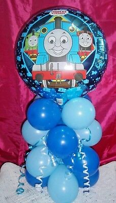 BALLOON TABLE DISPLAY BIRTHDAY THOMAS TANK ENGINE - AIR  FILL NO HELIUM RBB - Helium Air Tank