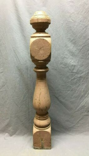Antique Decorative Turned  wood Newel Post Shabby 5x36 Old Vtg Staircase 195-20B