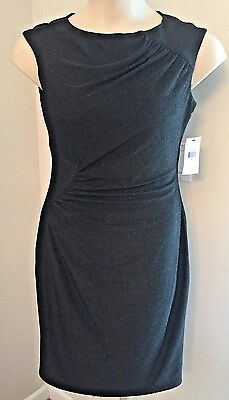 NWT LITTLE BLACK DRESS HOLIDAYS SILVER METALLIC SIZE 10 MSRP $79.00 (Macys Little Black Dress)