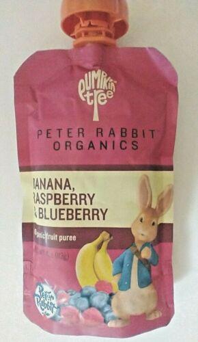 Peter Rabbit Organics Banana/Raspberry/Blueberry Puree~ 4oz~ BB 7/22~ Lot of 13
