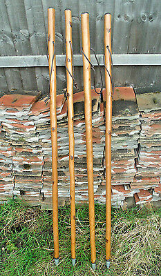 LARGE HIKING WALKING STICK/CANE SOLID THICK CHESTNUT WOOD FARMERS WALKING STICKS
