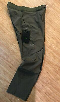 NEW ARCTERYX LEFROY PANTS MENS MONGOOSE QUICK DRY STRAIGHT LEG TRIM FIT w BELT Tailored Mens Pants