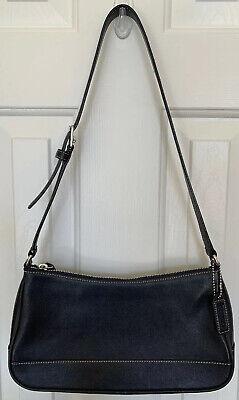 EUC Coach 7587 Hampton Demi Baguette Leather Shoulder Bag, Black Black Demi Handbag