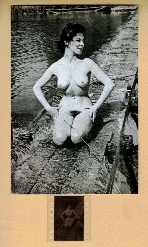 Künstlerisches Aktfoto vom original Dia ca. 1930 - 1940