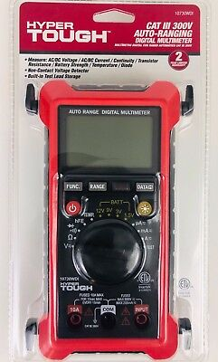 Digital Multimeter Cat - HYPER TOUGH CAT III 300V AUTO-RANGING DIGITAL MULTIMETER NEW FREE SHIPPING