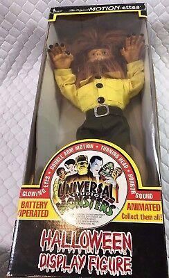 Vintage Rare Animated Universal Studios Wolfman Halloween Display Figure IOB (Wolfman Halloween Decorations)