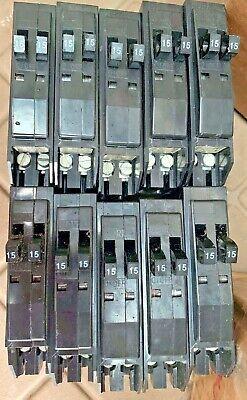 Square D Qot1515cp 15 Amp Tandem Twin Circuit Breakers Qo 1-pole - Box Of 10