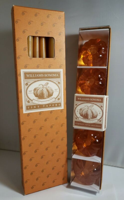 Pumpkin Tiny Tapers Candle Holders & Candles Williams-Sonoma Halloween Thanksgvn