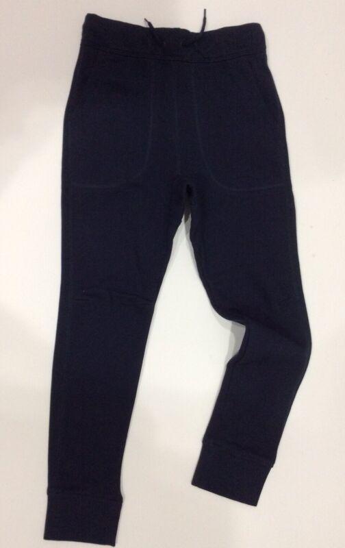 NEW Gap Kids Boy Sweatpants Sz L (10-11) Navy Slouch Joggers Drawstring Elastic