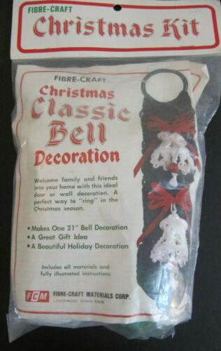 Fibre Craft vtg Macrame Kit Christmas Bell Pull Decoration 2124 NIP