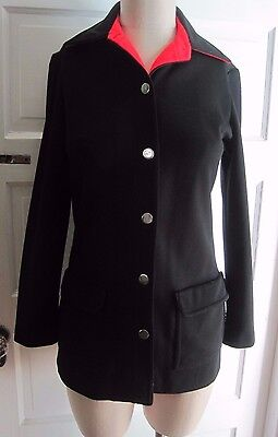 Vintage Womens 8 David Crystal Fashion 70s Riding Leisure Pointed Blazer Jacket