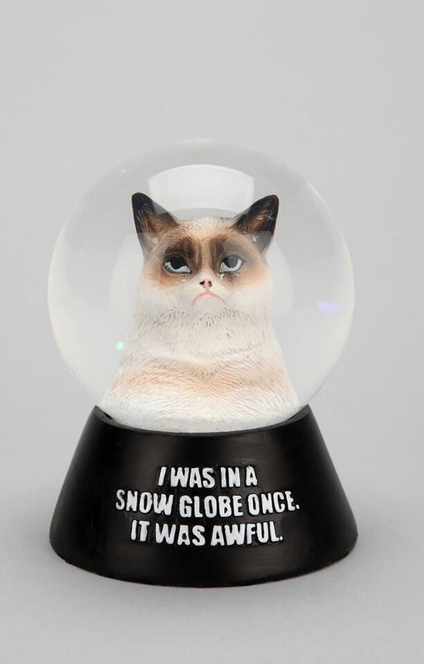 Grumpy Cat Snow Globe Snow Dome Urban Outfitters Holiday Event