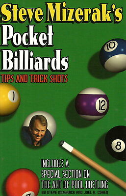 Rare 1982 Hardcover Edition*Steve Mizerak's POCKET BILLIARDS TIPS & TRICK SHOTS