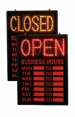 Openclosed Led Sign With Hours Dry Erase Hours