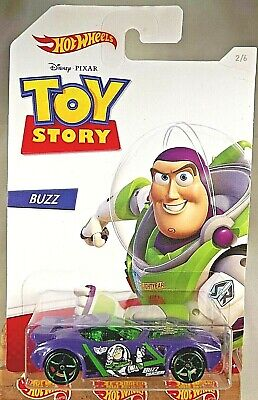 2019 Hot Wheels Toy Story Series-Buzz 2/6 NERVE HAMMER Purple w/Green OH5 Spokes