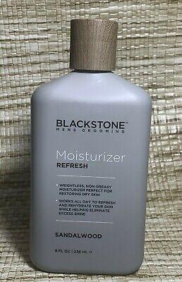 Blackstone Men's Grooming Moisturizer Refresh Sandalwood Non Greasy 8 fl oz New