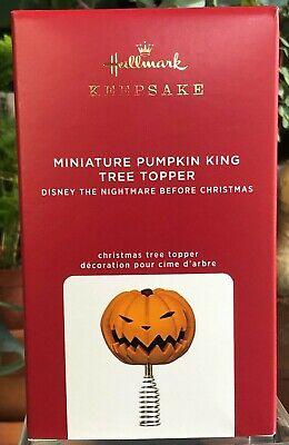 Hallmark-2020-MINIATURE PUMPKIN KING TREE TOPPER-Nightmare Before Christmas