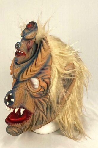 Vintage Topstone Halloween Mask Pig Wolf Monster Creepy-Hairy-Head Emerging