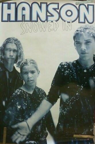 RARE HANSON SNOWED IN 1997 VINTAGE ORIGINAL MUSIC STORE PROMO POSTER