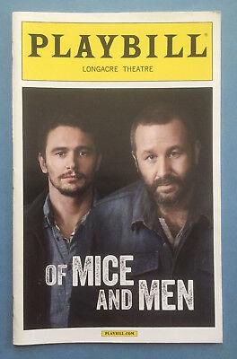 OF MICE AND MEN Playbill (2014) James Franco + Chris O'Dowd + Leighton Meester (Chris O Dowd Of Mice And Men)