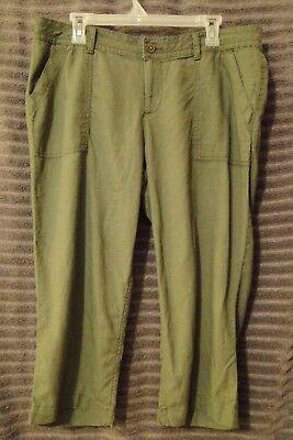 SONOMA LIFESTYLE Womens Capri Pants Mid Rise Size 12 Moss Stone Color Brand New