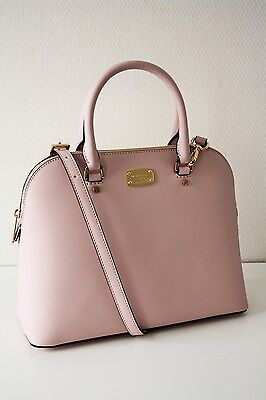 Rosa Rose Dome (MICHAEL KORS CINDY LG DOME Satchel Saffianoleder blossom/rose)