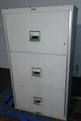 Victor Insulated Record Container R-5432 Fire Proof 3 Drawer File Cabinet.