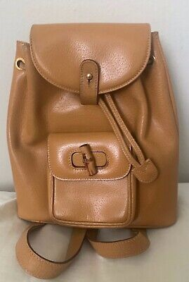 Authentic GUCCI Bamboo backpack Beige Vintage
