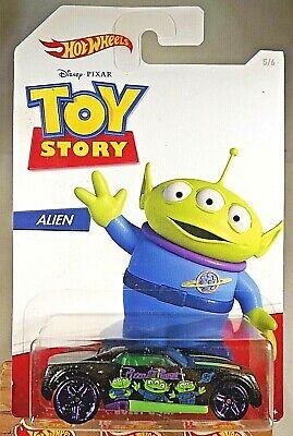2019 Hot Wheels Toy Story Series-Alien 5/6 BULLY GOAT Black w/Purple Pr5 Spokes