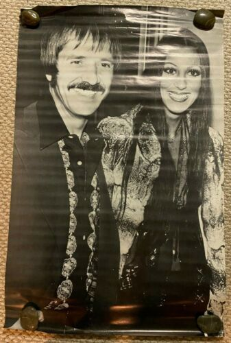 Large Vintage SONNY & CHER Head shop Poster 1970