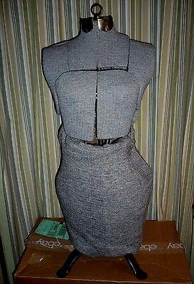 Vintage Dress Form Mannequin Seamstress Dressmaker Display Decorative Functional