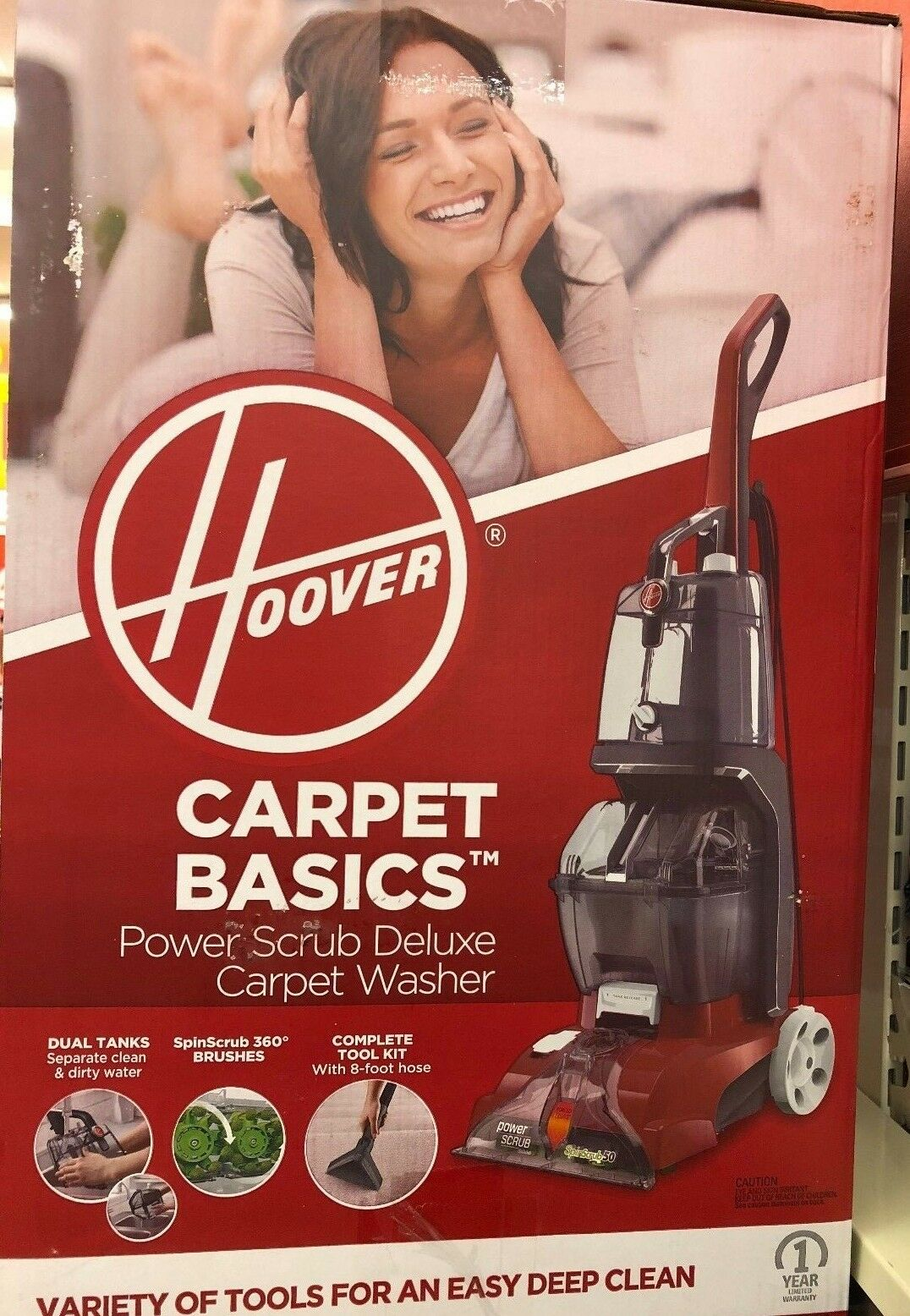 Hoover Power Scrub Deluxe Carpet Washer FH50150