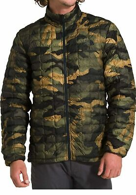 The North Face Mens CAMO THERMOBALL Eco Jacket Burnt Olive LARGE NWT