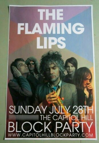 Flaming Lips 2013 Original Concert Show Flyer Poster Seattle Block Party CHAZ
