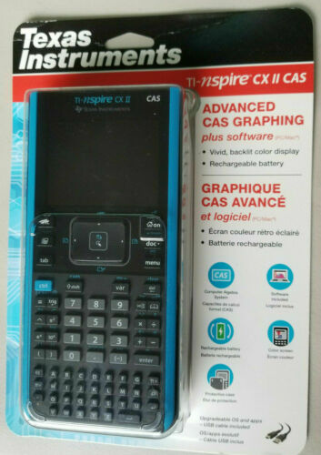 Texas Instruments TI-NSPIRE CX II CAS Graphing Calculator plus Software PC/Mac