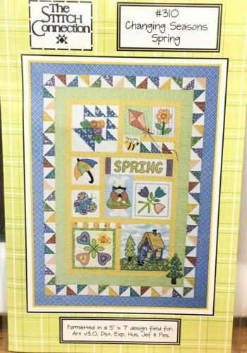 The Stitch Connection Machine Embroidery Changing Seasons Spring 310 Quilt CD