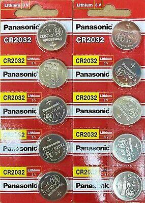10 x SUPER FRESH Panasonic CR 2032 CR2032 Lithium Battery 3V Coin Cell Exp. 2030