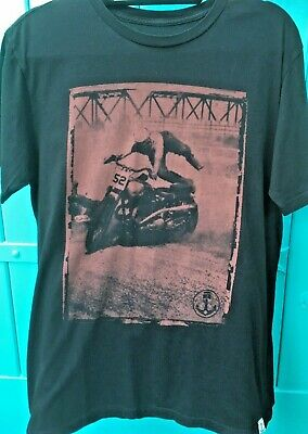 Iron and Resin Mens Black T Shirt Freedom Rider Cotton Size M