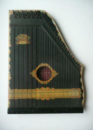 Antique Chromatic Concert Oscar Schmit & Menzenhauer 3 1/2 Guitar Zither