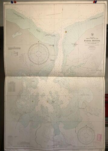 Cuba North Coast Navigational Chart / Hydrographic Map # 2209, Bahia Honda