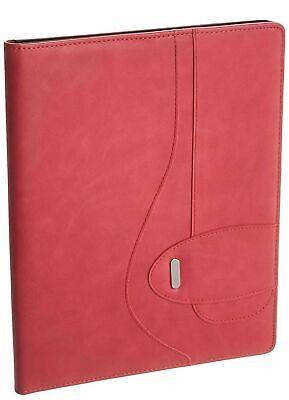 Buxton Writing Pad Folio Faux Leather Pink New