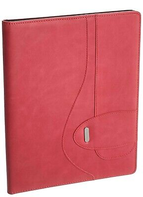 Buxton Pink Faux Leather Writing Pad Folio New