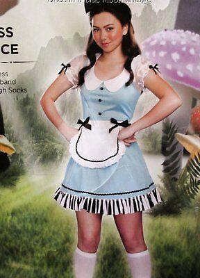 Girls Tween Junior M 9-11 Wonderland Miss Alice Fairytale Costume Dress