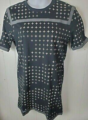 Puma x UEG Dress Black Gray Cream Print Men's Size M Long Tee Shirt