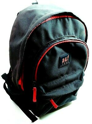 Abercrombie and Fitch Black Backpack Bag School Bookbag Black / Red A&F 1892
