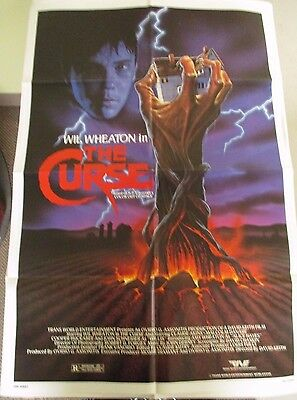 Vintage 1 sheet 27x41 Movie Poster The Curse 1987 Wil Wheaton Claude Akins