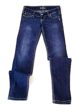 Faded Skinny Jeans (Silver Jeans Super Skinny Jegging Womens Size 27x29 Blue Faded Denim)
