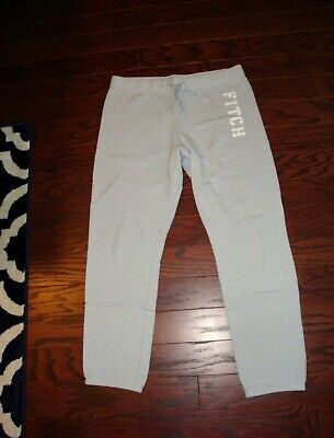 Abercrombie & Fitch/A&F light blue 'Fitch' relaxed logo sweatpants - Size M