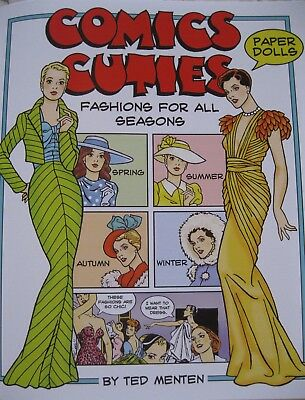 COMIC CUTIES Paper Doll Book--w/ 2 Lovely Dolls and Fashions for All Seasons!