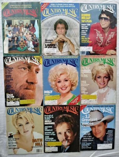 Lot of 9 Country Music Magazines 1973 1980 1981 1998 1999 Back Issues Magazine